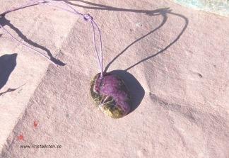 Purpurit sten 26x19mm topphålad