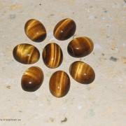 Tigeröga sten flatback 16x12mm, styckpris