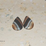 BandAgat sten 23x16mm, styckpris