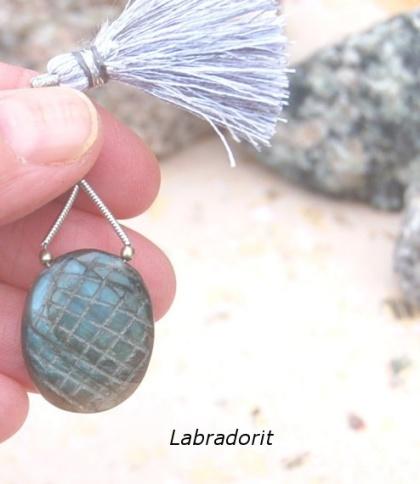 Labradorit hänge - amulettsten