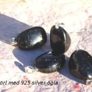 Schörl (Turmalin) hänge ca 30mm med silverögla, styckpris
