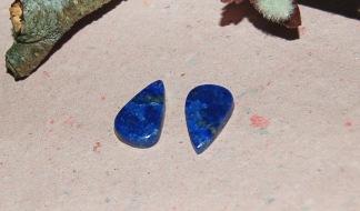 Lapis lazuli flatback  19x12mm, styckpris