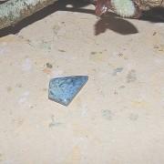 Dumortierit sten flatback 22x16mm