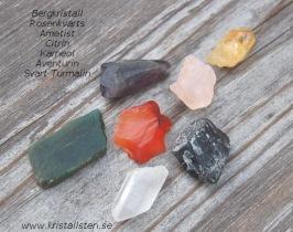 Råstens bitar för Chakra - pris per pk med 7 stenar