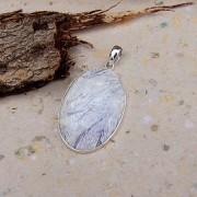 Tiffany sten 40x28mm i silverinfattning