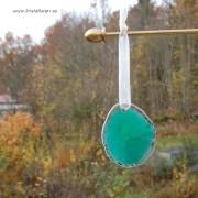 Agat skiva grön 55x47mm