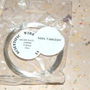 Non-tarnish silverpläterad wire 0,6mm