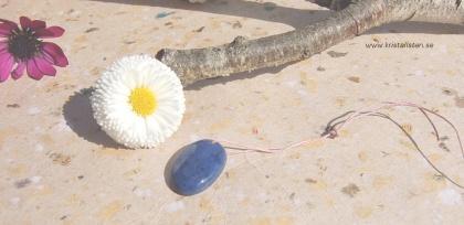 Dumortierit sten, flatback, topphålad