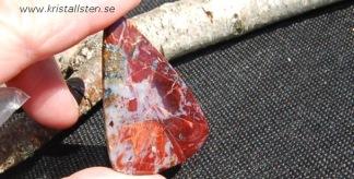 Röd Pietersit i Matrix sten 45x22mm