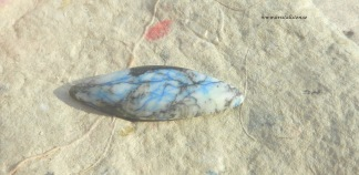 Azurit  sten i matrix, 39x14mm