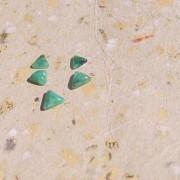Smaragd sten triangel 6mm, styckpris