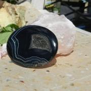 BandAgat med kristall 56x42mm