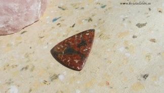 Indonesisk röd plum Agat 43x34mm