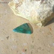 Azurit/Krysokolla sten 39x24mm friform