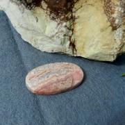 Rodokrosit sten 39,5x22mm flatback