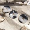 Crystal kvarts donut 40mm med hållare, styckpris