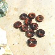 Röd Tigeröga sten donut/amulettsten 20mm
