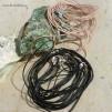 Läderband med lås 50cm svart eller natur, vegetabilisk garvat, styckpris