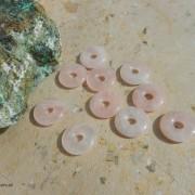 Rosenkvarts sten, donut 20mm, styckpris