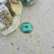 Malakit sten donut 30mm