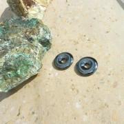 Hematit amulett/donut 30 mm, styckpris
