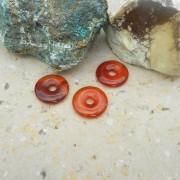 Karneol sten donut/amulettsten 30mm, styckpris