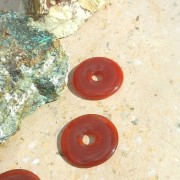 Karneol sten donut 40mm, styckpris