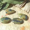 Krysokolla/Azurit stenar, flatback, styckpris