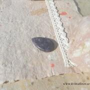 Lepidolit sten 38x24mm flatback