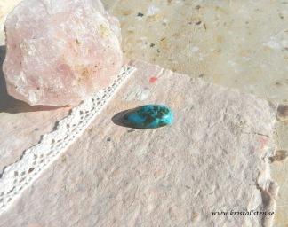 Krysokolla sten 29x15mm flatback