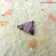 Rosa Kalcit/Obsidian sten flatback 24x20mm, Afrodites sten