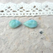 Larimar sten droppformad 11x7,5mm, styckpris