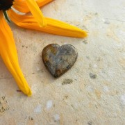 Bronzit sten hjärta 24mm flatback
