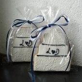 Tårta marin med initialer