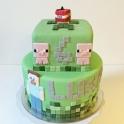 Barntårta Minecraft 2 vån