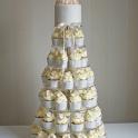 Bröllopscupcakes hortensia