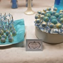 Baby blå cake pops
