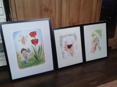 Mina 3 akvareller