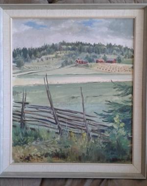 Rolf Eriksson. Olja, 50x60, 1964
