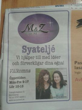 Förra veckan fanns en stor annons i en tidning.