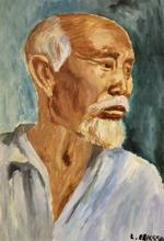 Porträtt från min första och enda oljemålningskurs, 1977.