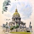Paris_Kapellet Église du Dôme i Hôtel des Invalides.