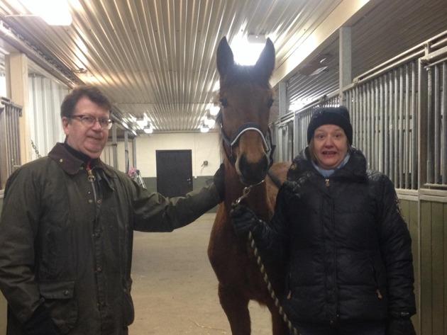 Allan & Jenny Nilsson med sin ståtliga Odessa Celeber