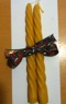 Bivaxljus handgjutna - Spiralljus kronljusmodell 2 st