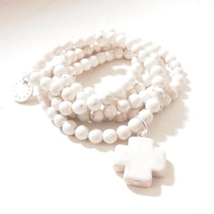 Soft cross (white) hals/armband/necklace/bracelet