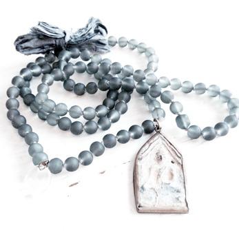 Dusty grey Necklace