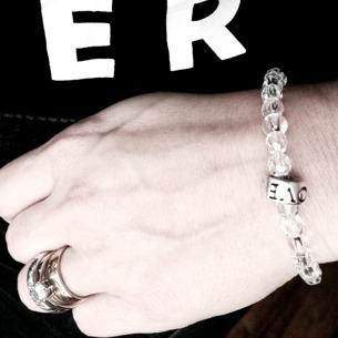 Transparent LOVE bracelet