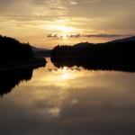 Solnedgång över Spjutmosjön