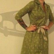 gronklänning