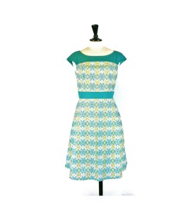 Annika flower dress - Mint